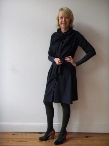 Meike Winnemuth und ihr blaues Kleid - an diesem Tag ganz einfach getragen.
