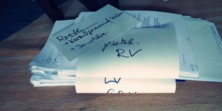 Ordnung schaffen in den eigenen Papieren - bilden Sie dafür Stapel!