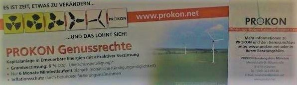 So emotional warb Prokon in Hamburg, um Anleger anzulocken die nachhaltig investieren wollten