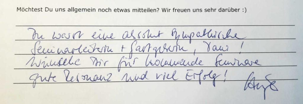 Referenzen Geldfrau - das ETF-Wochenende war ein großer Erfolg.