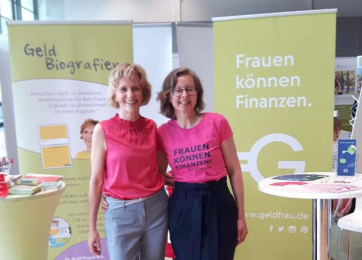 Birgit Happel und Dani Parthum - Geldbiografien und Geldfrau - gemeinsam auf der Karrieremesse für Frauen Woman&Work 2019