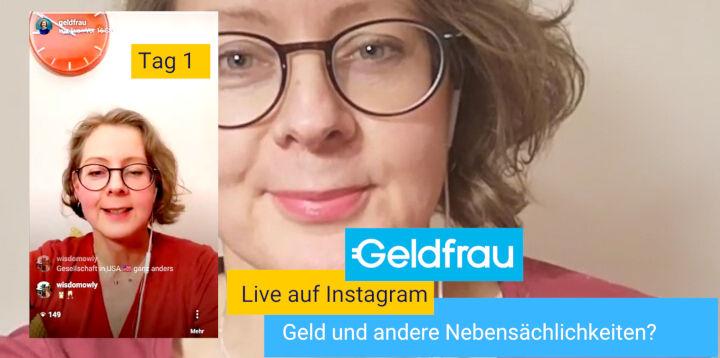 Finanzbildung to go - Geldfrau live auf Instagram