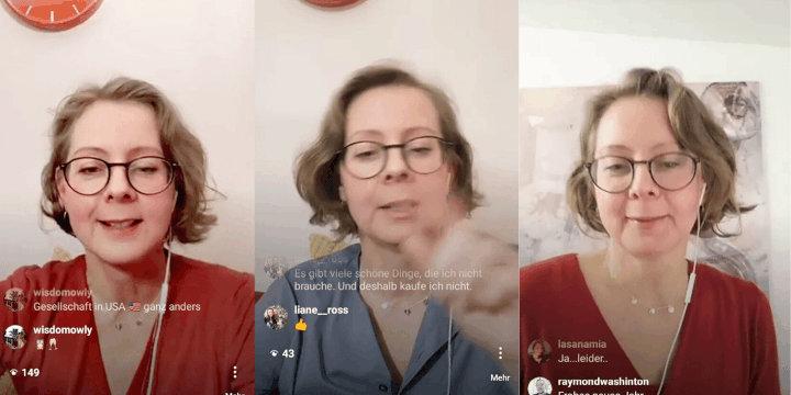 Finanzwissen to go - mit der Geldfrau live auf Instagram, Woche 1